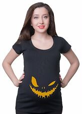 Maternity T Shirts Scary Halloween T-Shirt Pumpkin T shirts Mom Funny Maternity