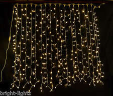 CONNECTABLE WARM WHITE LED CURTAIN LIGHTS WEDDING CHRISTMAS XMAS HOTEL LIGHTING