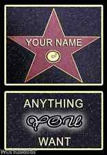 ☆PERSONALISED HOLLYWOOD STAR OF FAME☆ NOVELTY CHRISTMAS GIFT HIGHEST QUALITY