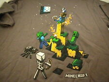 NEW WITH TAGS  MINECRAFT YOUTH T SHIRT T-SHIRT GRAY LICENSED FREE SHIP COOL!!