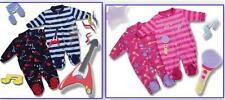 baby boys girls 2 pk rock sleepsuits 0-3 3-6 6-9 9-12 12-18 18-24 months age 2-3