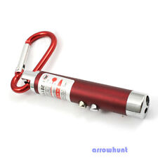 Fashion Laser Pointer Beam LED Flashlight UV Torch Keychain 3 in 1