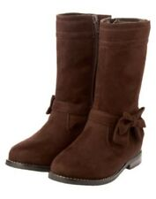 GYMBOREE READY, DRESS, GO! BROWN BOW SUEDE BOOT 9 10 11 12 13 1 2 3 NWT