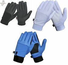 Wind & Water Resistant Breathable Horse Riding Gloves - Suede with Thinsulute