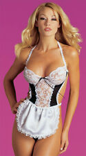 Adult Woman's Sexy Servant French Maid Fancy Dress Complete Outfit XL ONE SIZE