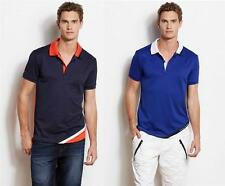 New Armani Exchange A|X Mens Slim/Muscle Fit Active Angled Polo Shirt