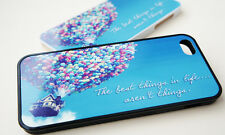 Balloons on House Case for iPhone 4 4s 5 5s 5C - Rubber or Plastic Cover - Quote