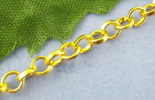 Wholesale Mixed Lots Gold Plated Link-Soldered Cable Chains 4mm