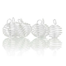 Wholesale Mixed Lots Silver Plated Spiral Bead Cages Pendants Findings