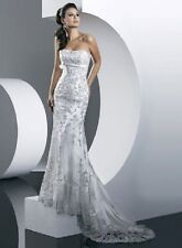 2013 New Wedding Dress White Trumpet lace satin beaded empire