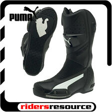 Puma Mens Desmo GTX Race Street Motorcycle Boots Black White