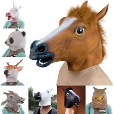 Horse Unicorn Deer Animal Head Mask Creepy Halloween Costume Theater Prop Adult