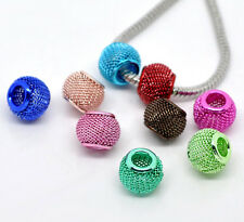 Wholesale Lots Mixed Mesh Spacer Beads Fit Charm Bracelet 12x10mm