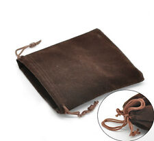 Wholesale Lots Coffee Velveteen Pouch Jewelry Bags With Drawstring 12x10cm
