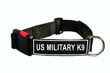 DT Dog Collar With Velcro Patches US MILITARY K9