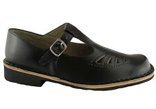 GRO SHU TRINITY OLDER KIDS/LADIES/WOMENS LEATHER SHOES/SCHOOL SHOES/T-BAR/FLATS