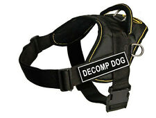 DT Fun Dog Harness in Yellow Trim with Velcro Patch DECOMP DOG