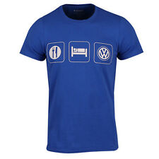 VW Shirt Volkswagen Eat Sleep VW Blue T Shirt TShirt TShirt Tee Das Auto New OEM
