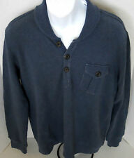 BANANA REPUBLIC Men's Blue Shawl Collar Sweatshirt Sizes L-XL
