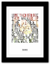 BOB MARLEY Forever Loving Jah ❤ song lyric poster typography art print - 4 sizes