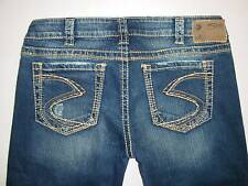 """New Silver Jeans FRANCES 18"""" Bootcut Low/Mid Rise Regular/ Plus Size 131113A"""