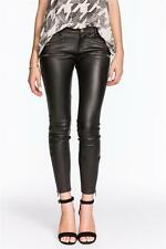 Current Elliott The Leather Multi Zip Stiletto Low Rise Jean Black Skinny Pant