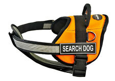 DT Works Orange Chest Support Dog Harness Velcro Patch SEARCH DOG
