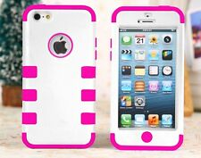 Colorful Heavy Duty Hybrid Rugged Hard Case Cover For iPhone 5 5S 5C Stylus+Film