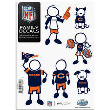 ALL NFL Team -  Family Decals 6 Pack Auto Car Stickers - Pick Your Favorite Team