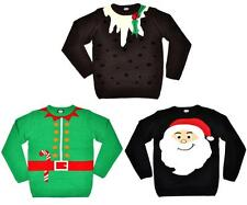 Novelty XMAS JUMPER Christmas Santa Elf Reindeer Pudding Sweater S/M/L/XL/XXL