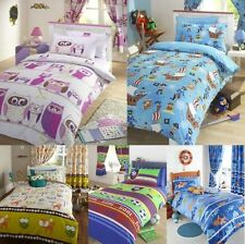 "Kids Themed Novelty Bedding - Single or Double Covers & 72"" Curtains Available"