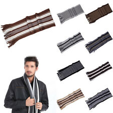 Hot Striped Elegant Wrap Scarves Classics Knitted Men's Winter Warm Scarf Neck