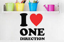 ONE DIRECTION WALL STICKER 1D I LOVE ONE DIRECTION WALL DECAL HARRY STYLES DECAL