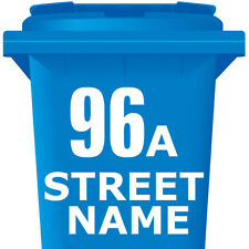 "4 Pack WHEELIE BIN NUMBERS x 4 WHEELY NUMBER STICKERS 7"" DUSTBIN SELF ADHESIVE"