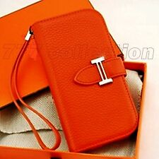 Real Genuine Leather Case Cover For iPhone 4 5 5C 5S 6 Samsung mini 3 4 5 Luxury