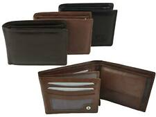 NEW Mens Quality Soft LEATHER WALLET by London Leather Goods Trifold Stylish