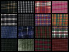 Fabric Quilt Store Quality Plaid Flannel By the Half Yard Assorted Colors 65