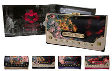 Genuine Ladies Women LYDC Anna Smith Flower Patent Wallet Purse With GIFT BOX