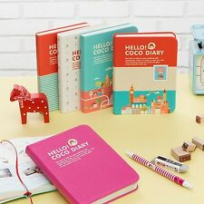2014 Weekly Planner Journal Organizer_Hello Coco Diary Premium Faux Leather Cove