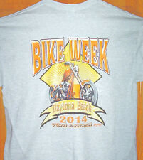 2014 Daytona Beach Bike Week Grey T Shirt Sz Sm - 6XL Chopper In Diamond Sun