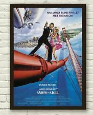James Bond A View To A Kill Movie Film Poster / Print / Picture A3 A4 Size