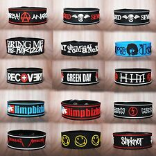 ROCK BAND MUSIC LOGO RUBBER WRISTBAND BRACELET CUFF MEMORABILIA COLLCTION