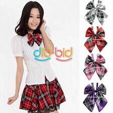 Hot Fashion Unisex Men Women Plaid Satin Wedding Party Necktie Casual Bow Tie