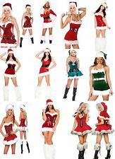 Sexy Miss Santa Womens Fancy dress outfit Mrs Xmas Costume High Quality 8 - 18