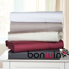 New Queen Size 1000TC 100% Egyptian Cotton Fitted Flat Sheet Pillowcase Bed Set