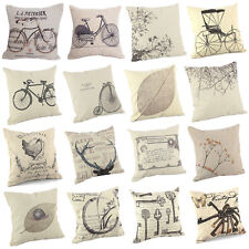 "New Home Decorative Sofa Cushion Cover Throw Pillow Case 18"" Vintage 16 Patterns"