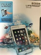 NEW Authentic Lifeproof Nuud Screenless Case iPad Mini APPLE White Clear 1405-02