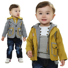 Toddler Boy 3 PC Outfit Set Formal Casual Suit Size 1-6 Years Jacket+Top+Jeans!!