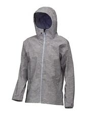 New Quiksilver Origin Ski Snowboard Jacket Shell Grey Stretch Poly Taped Seams
