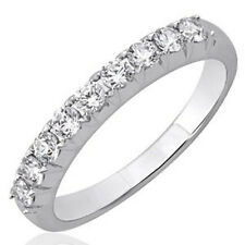 14k White Gold French-cut Wedding/anniversary Diamond Band Ring (0.45 Carat)